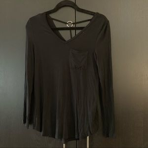 NWT Long Sleeve with Pocket and Silver Detail